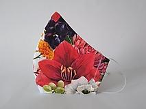 Rúška - VÝPREDAJ dámske dizajnové rúško prémiová bavlna antibakteriálne s časticami striebra dvojvrstvové tvarované - 12814312_