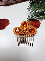 Ozdoby do vlasov - Hrebienok  - kráľovná jesene.  - 12814373_