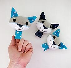 Hračky - Prstová maňuška zvieratko (vĺčko na výber) - 12813571_