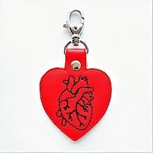 Kľúčenky - Prívesok srdce anatomické obrys - 12813461_