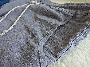 Oblečenie - Pánske pohodlné ľanové domáce nohavice - 12813534_