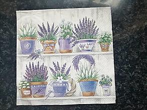 Papier - levanduľa v kvetináčoch - 12812520_