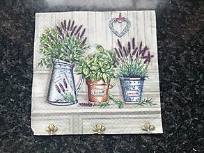 Papier - levanduľa v kvetináčoch 2 - 12812524_