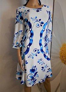 """Šaty - FLORAL FOLK """" Slovenská ornamentika """", šaty na mieru a v strihu na želanie - 12816054_"""