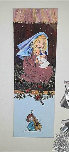 Obrazy - Panna Mária s Ježiškom 20 x 60  cm - 12815308_