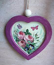 Obrázky - Obrázok srdiečkový  - Ruže so sirôtkami - 12816627_