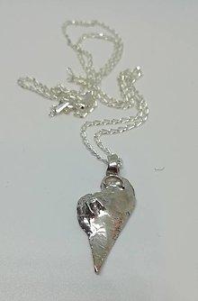 Náhrdelníky - Heart I.-strieborný prívesok srdiečko - 12817120_