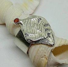 Prstene - Cuttle-strieborný prsteň - 12817138_