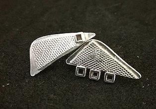 Náušnice - Textures triangles-náušky zo striebra - 12817142_