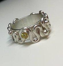 Prstene - Vlnenie-strieborný prsteň - 12817179_