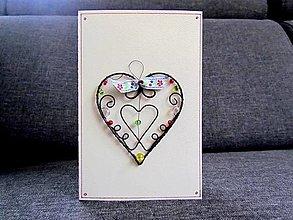 Papiernictvo - Pohľadnica so srdcom I. - 12815371_