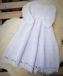 Detské oblečenie - Dlhé šaty na krst - 12815934_