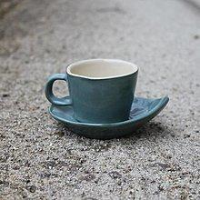 Nádoby - Espresso set holubia modrá 80ml - 12817904_