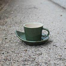Nádoby - Espresso set zelená 80ml - 12817925_