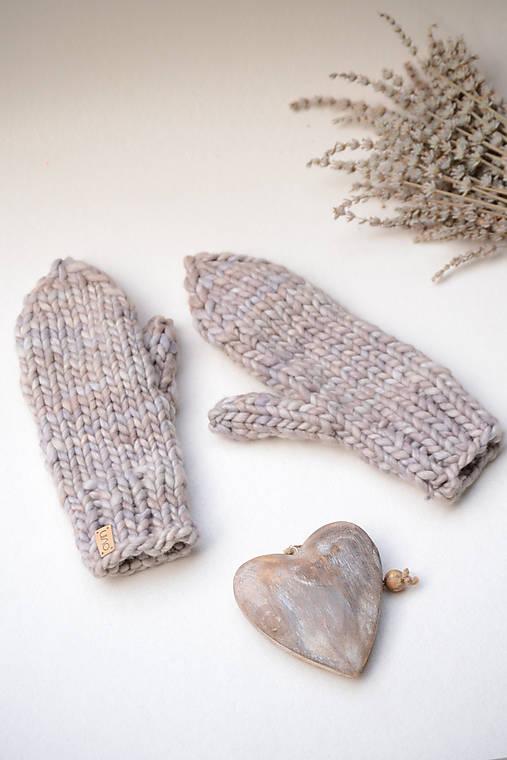 Rukavice - Dámske rukavice FLOW, 100% merino (Béžová) - 12818105_