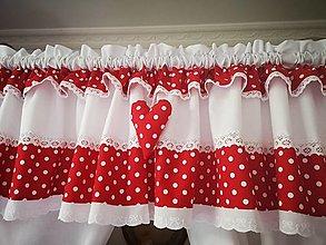 Úžitkový textil - Zaclonka v červenom - 12817576_