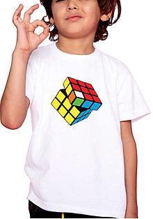 Tričká - Rubikova kocka detské - 12818690_