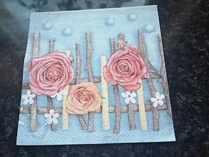 Papier - ruže - 12817879_