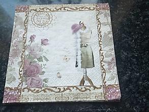 Papier - ružičky - 12817890_