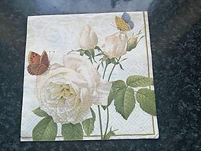 Papier - biela ruža - 12817899_