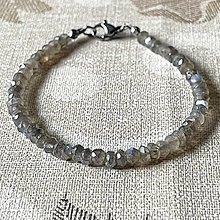 Náramky - Luxury Labradorite Stainless Steel Bracelet / Náramok brúsený labradorit (chir.oceľ) - 12819164_
