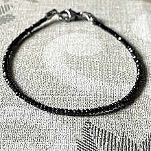 Náramky - Luxury Spinel Stainless Steel Bracelet / Náramok brúsený spinel (chir.oceľ) - 12819190_