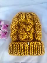 - chunky čiapka- 100% peruánska ovčia vlna - 12819468_
