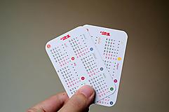 Papiernictvo - Kalendár 2021 do peňaženky - farebný - dvojica - 12820008_