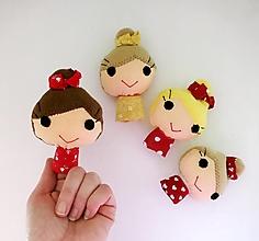Hračky - Prstová maňuška človiečik (pani / maminka na výber) - 12820043_