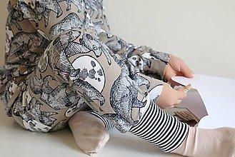 Detské oblečenie - tepláky z biobavlny V mesačnom svite - 12820504_