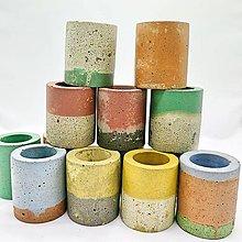 Dekorácie - Dekorácia s betónovým kaktusom Valec Zero Waste - 12820329_