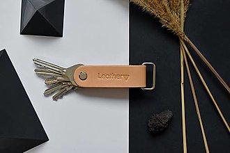 Kľúčenky - Kľúčenka Alfa pre 5 kľúčov Prírodná - 12820048_