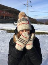 Čiapky - Vlneny set-ciapka+rukavice - 12821846_