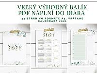 - PDF Náplne do diára A5 + Kalendár 2021 Greenery - 12824280_