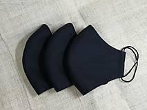 Pánske rúško čierne ,neantibakteriálne,antibakteriálne s časticami striebra