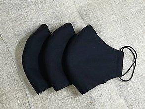 Rúška - Pánske rúško čierne ,neantibakteriálne,antibakteriálne s časticami striebra (neantibakteriálne) - 12823455_