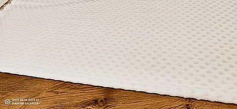 Textil - Baby Minki - cena za 10 cm (Biela) - 12824448_