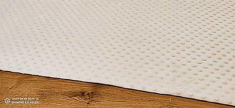 Textil - Baby Minki - cena za 10 cm (Krémová) - 12824454_