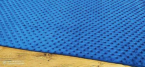 Textil - Baby Minki - cena za 10 cm (Modrá) - 12824459_