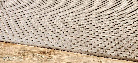 Textil - Baby Minki - cena za 10 cm (Šedohnedá) - 12824465_