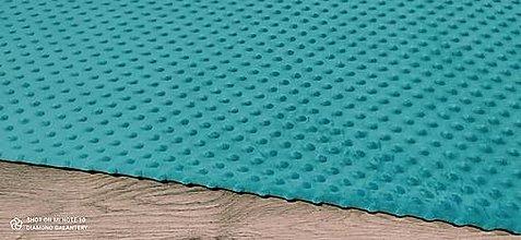 Textil - Baby Minki - cena za 10 cm (Tyrkysovo zelená) - 12824467_