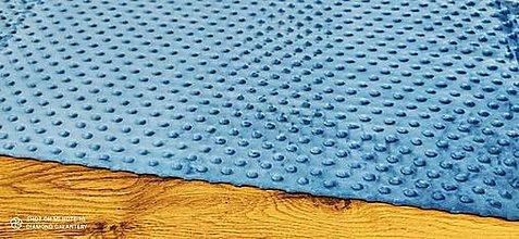 Textil - Baby Minki - cena za 10 cm (Modrá II) - 12824470_