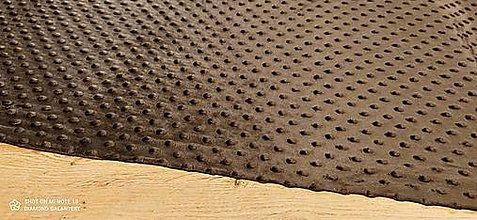 Textil - Baby Minki - cena za 10 cm (Čokoládová) - 12824471_