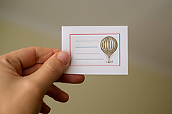 Papiernictvo - Nálepka - Balón - 12822523_