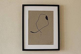 Obrazy - ja a ty I / minimalistický obraz na recyklovanom papieri / A3 - 12824518_