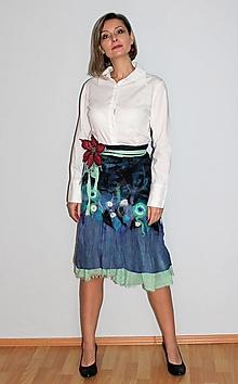 Sukne - plstená sukňa + DARČEK - 12822148_
