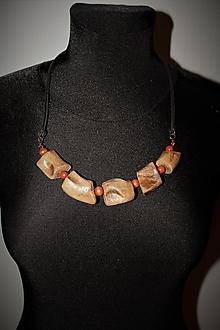 """Náhrdelníky - náhrdelník """"koreňový"""" - 12823738_"""