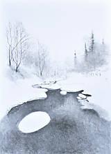 Kresby - Biela zima - 12821315_