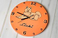 Hodiny - Keramické hodiny so svojim maznáčikom - 12822923_