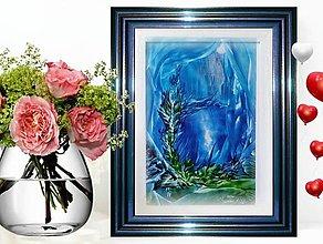 Obrazy - Modrá hlbka ( darček ) - 12827044_